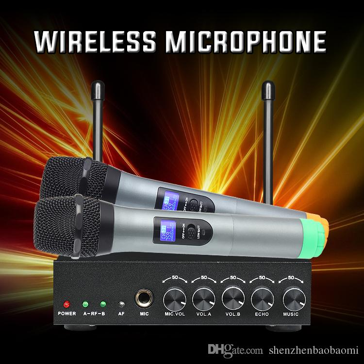 Ultra High Frequency Wireless Microphone with Echo Bluetooth Microphone for  home theater system computer loudspeaker Smart TV Livestreaming