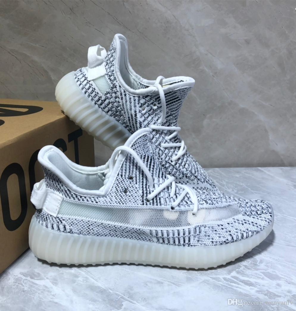 735c74566420a 2019 With Box 2019 Static Running Shoes Kanye West Runner Mens Women  Fashion Sneakers Static Gray Sport Knitting Mesh Shoes From Wenyanlv