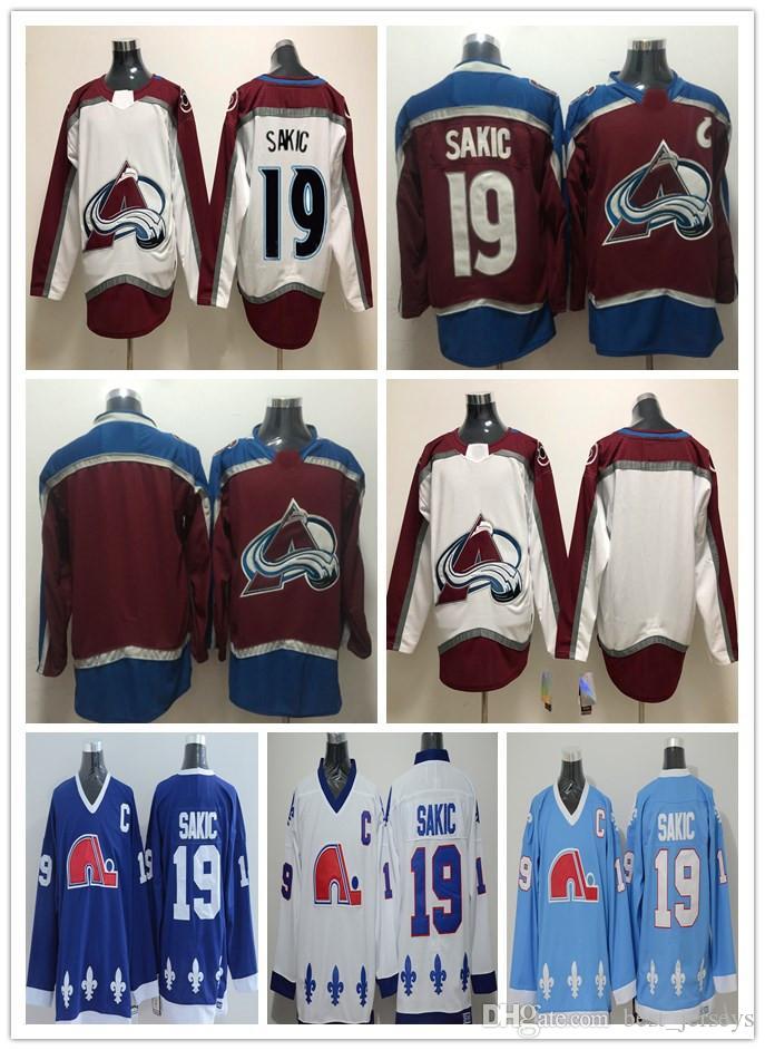 82c90009789 ado Avalanche Men 19 Joe Sakic Quebec Nordiques 19 Joe Sakic CCM Hockey  Jerseys Hockey Jerseys From Best jerseys