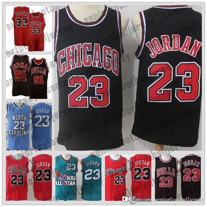 finest selection 8c44c 224c5 91 Rodman 33 Pippen Retro Mesh 45 23 Michael Chicago Jersey Bulls North  Carolina hot sale Men Basketball Jerseys