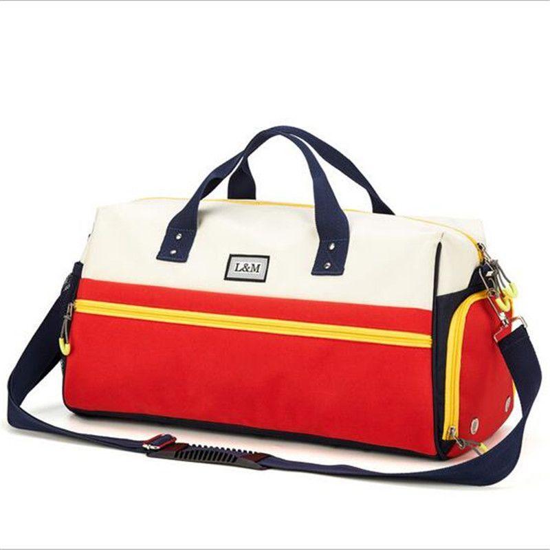 f3b8317c7b 2019 Nylon Waterproof Sports Bag Fitness Bag Profession Men And Women Gym  Shoulder Surper Light Travel Luggage Crossbody Bags From Kuyee