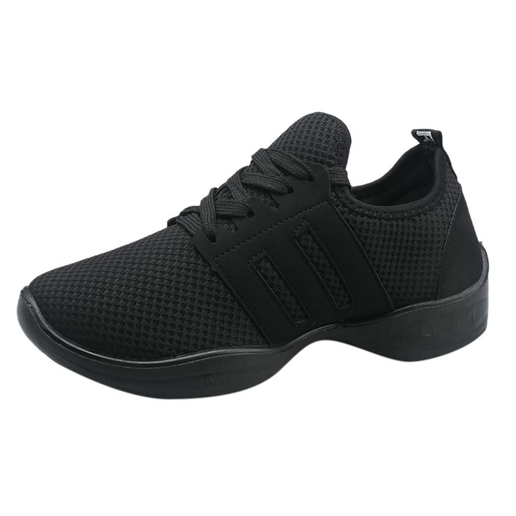 newest collection 9abfe 9ff12 TPU Running Schuhe Damen Modern Jazz Dance Sneakers Schuhe Mesh  Atmungsaktiv Laufen Casual Lace-up Schwarz Turnschuhe Z30726