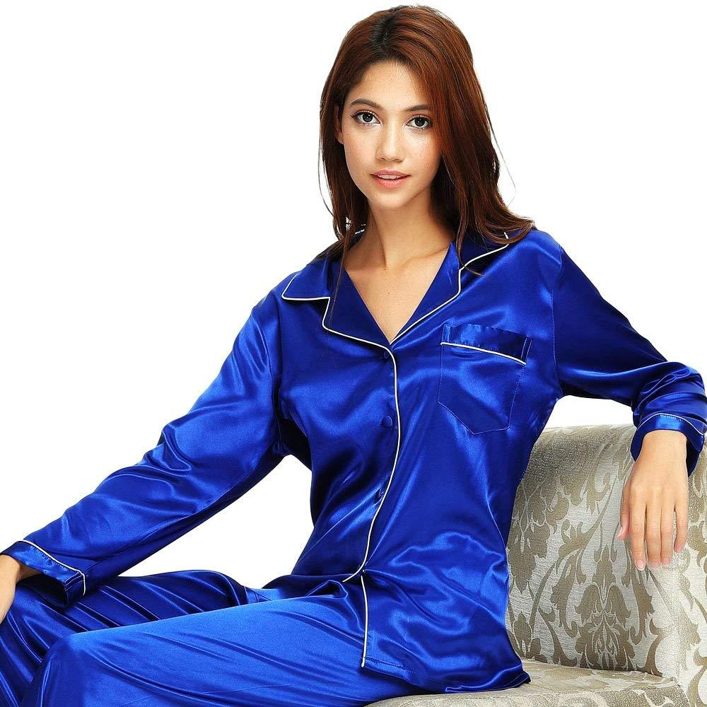ca6ae1a73362 2019 Womens Pajama Sets Satin Sleepwear Loungewear Autumn Winter Nightwear  Nightdress Silk Pants Long Sleeve Plus Size From Shutie, $29.16 | DHgate.Com