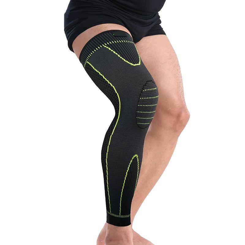 d8c23401e6 2019 Elasticity Long Knee Protector Brace Leg Sleeve Knee Pads Calf Support  Brace Protector Leg Warm Sports Kneepads #71329 From Hot_jersey2018, ...