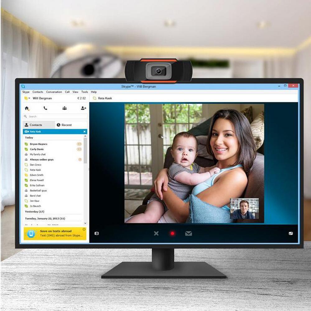 HD 웹캠 웹 카메라가 내장 재고 있음 마이크 USB 2.0 비디오 녹화를위한 컴퓨터 PC 노트북을 사운드 흡수 480P / 720P / 1080P PC를 30FPS