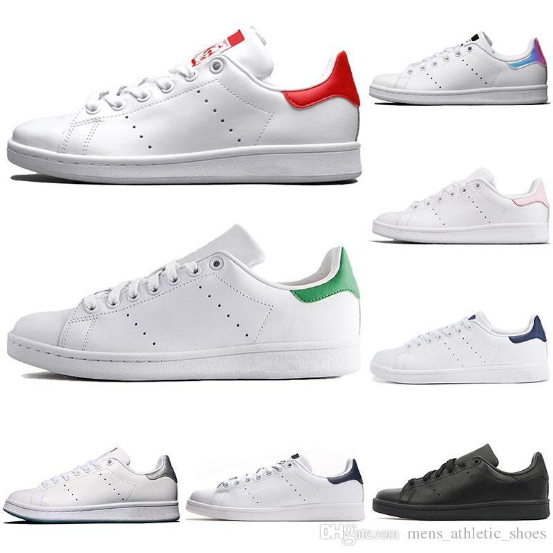 timeless design 4b8c8 f7337 2019 adidas stan smith sapatos casuais para homens mulheres triplo branco  preto vermelho verde 3 m reflexivo Gucci clássico calçados esportivos ao ar  ...