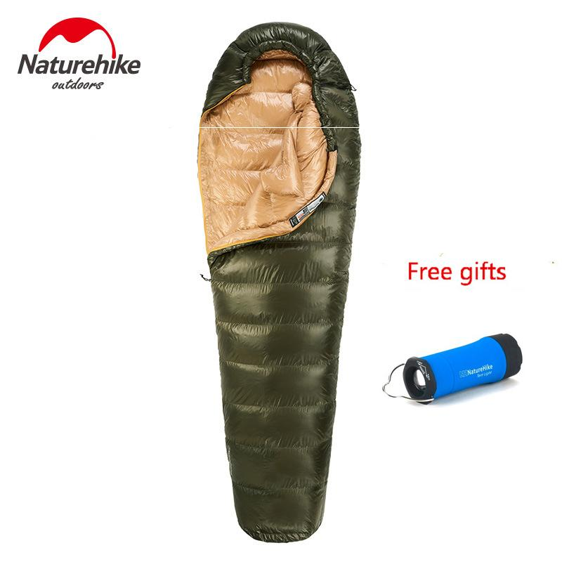 Camping & Hiking Camp Sleeping Gear Naturehike Outdoor White Goose Down Mummy Sleeping Bag Camping Hiking Climbing Ultralight Down Sleeping Gear Bed