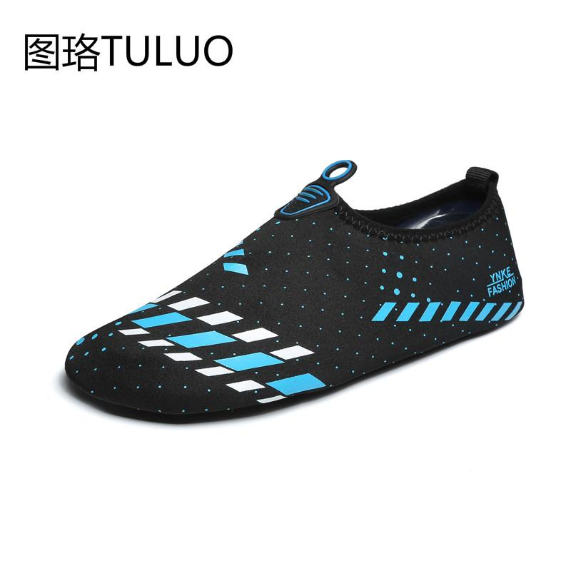 bf51edf843d2 2019 Men Woman Aqua Shoes Barefoot Skin Sock Striped Shoes Beach ...