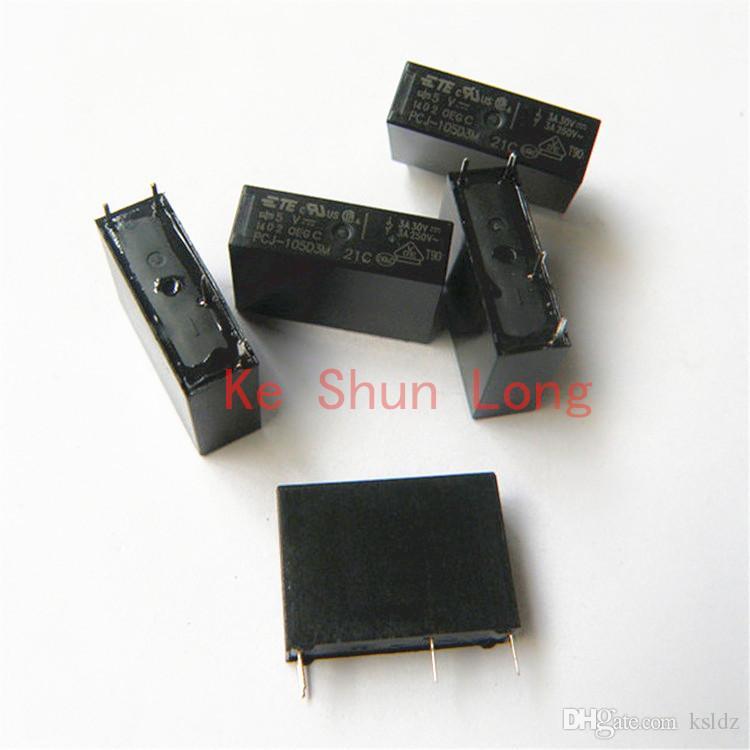 b20a1189b Compre Frete Grátis Lote 10 Peças / Lote 100% Original Novo TEEG PCJ 112D3M  PCJ 112D3M PCJ 105D3M PCJ 105D3M 3A 5A 5VDC 12VDC 24 VDC 4 PINOS Relé De ...
