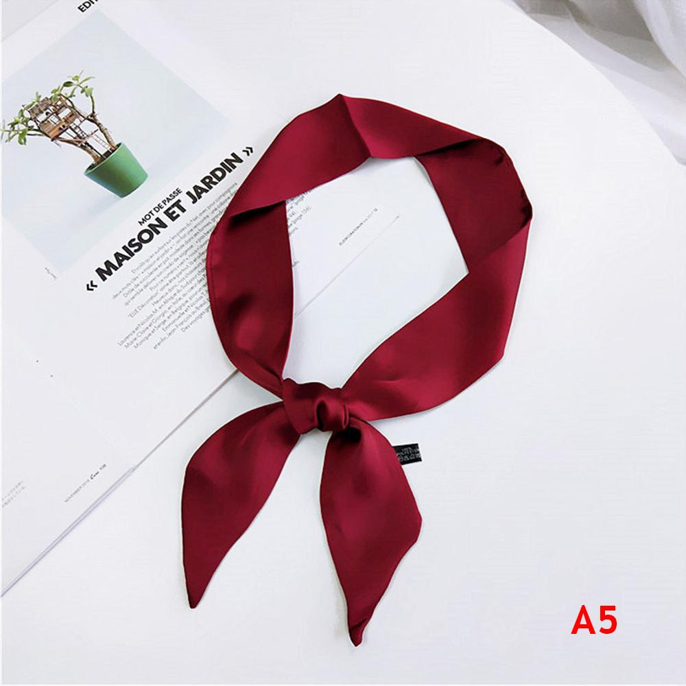 90 5cm Women Elegant Silk Feel Satin Small Scarf Neckerchief Head Neck Tie  Band Hair Rope Bag Tie Wristband Wrap Teal Bandana Bib Bandana From  Chuhuaiking 39dcab6f5