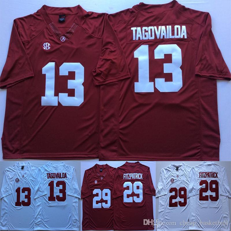 on sale c09e3 ffab3 hot sale Alabama Crimson Tide Jersey 13 Tua Tagovailoa 29 Minkah  Fitzpatrick College Football Men jerseys