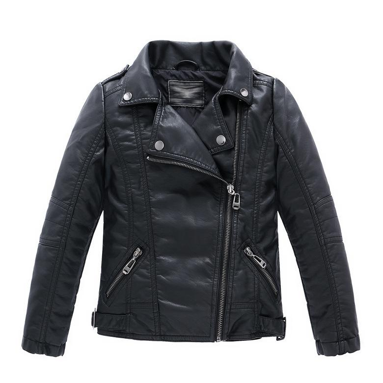 b5b8ca4bf Spring Autumn Children Girls Leather Motorcycle Jackets PU Leather Jackets  for Girls And Boys 2-12 Years Kids Outerwear & Coats