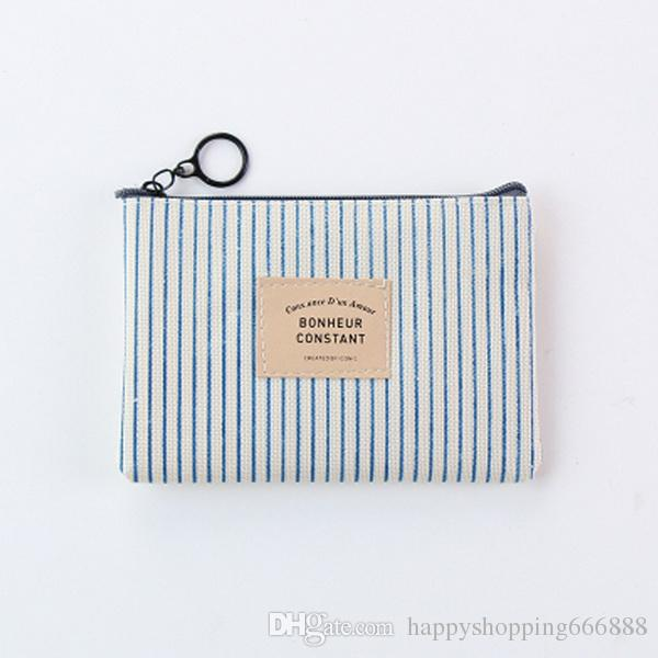 fashion Hot Seller Korean Stationery Simple Pen Bag for Male and Female Students Large Volume Canvas Zero Wallet for Cosmetic Bag