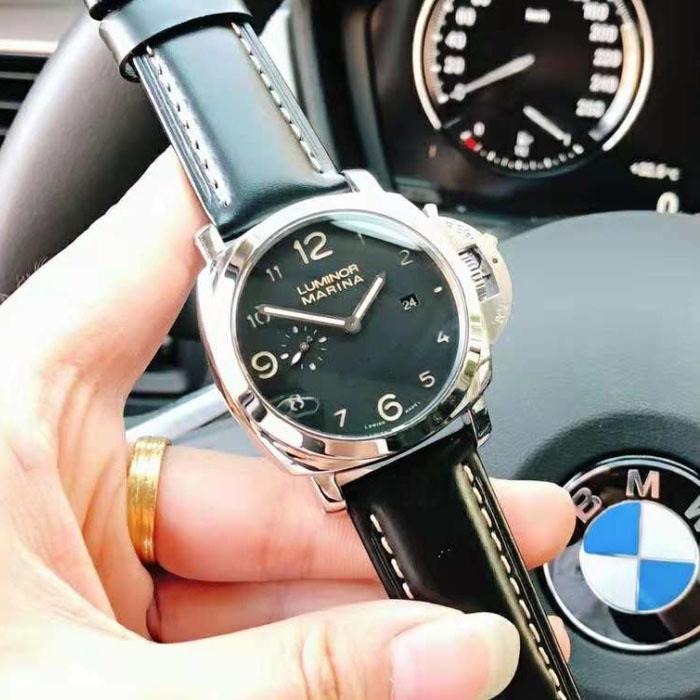 e646fff8b1e Compre Relógio De Luxo 44mm PAM00359 Movimento P9000 Mostrador Preto Relógio  Automático Aaa Luxo Mens Relógios Relógio De Pulso Pulseira De Couro Mens  ...