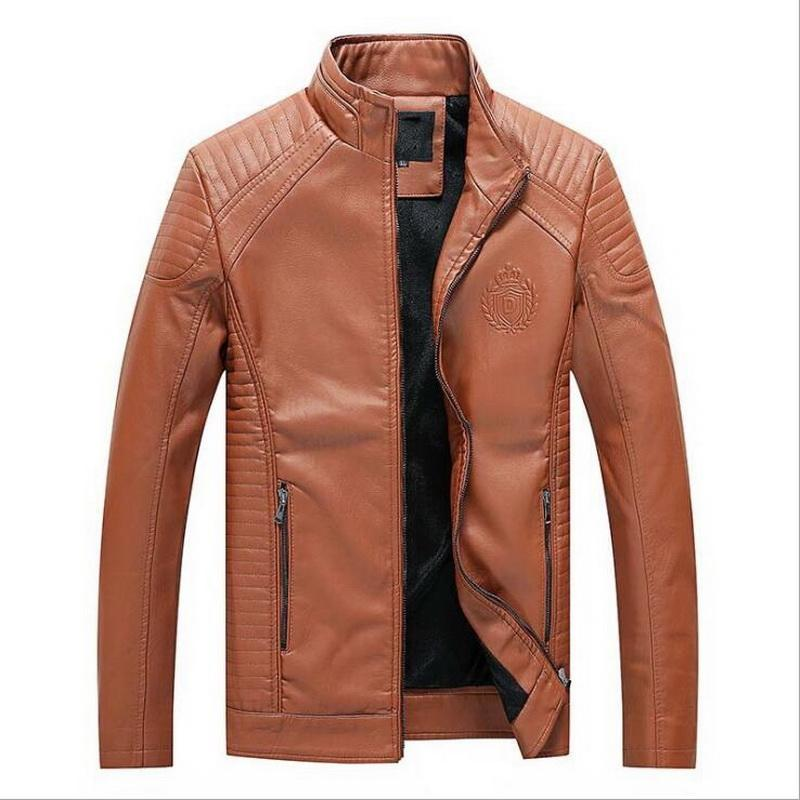 Outono Inverno Motociclismo pu Leather Jackets Faux Leather Jacket Mens Roupa Moda Elastic motocicleta Casacos L-6XL