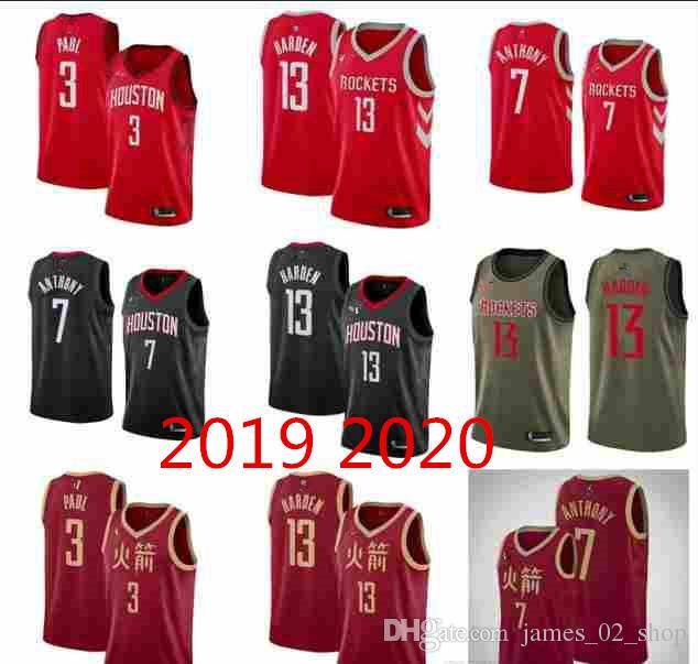b4a9e732063 2019 2019 2020 New City Men Houston James Harden Chris Paul Rockets Jersey  Hakeem Olajuwon 100% Stitched All Star Basketball Jerseys From  James_02_shop, ...