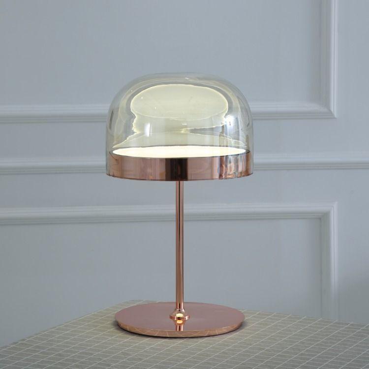 Modern Crystal Led Table Lamp Copper Bedroom Bedside Lighting Decorative Led Table Li Ghts Cloth Lamp Shade Desk Lamps Luminaire Led Table Lamps Lights & Lighting