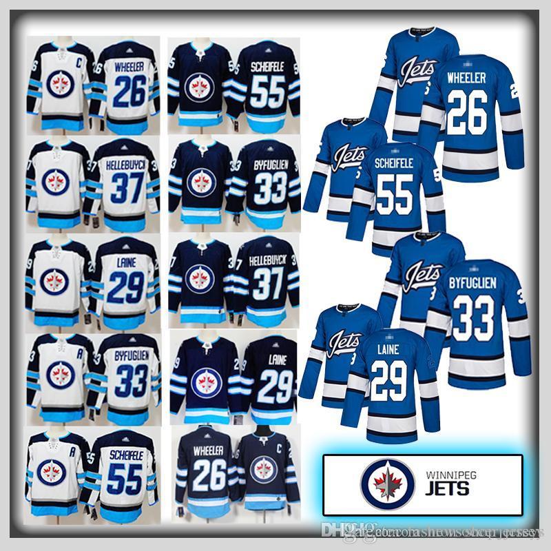 26 Blake Wheeler Men Winnipeg Jets Jersey 29 Patrik Laine 33 Dustin  Byfuglien 37 Connor Hellebuyck 55 Mark Scheifele NHL Hockey Jerseys UK 2019  From ... 49f9978e4
