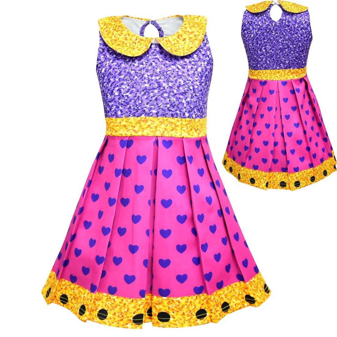432863cdc30 Girls Surprise Princess Dresses Stage Show Cosplay Costume Kids Cartoon  Sleeveless Summer Lapel Dresses Clothes Birthday Party Dress 2019 Online  with ...