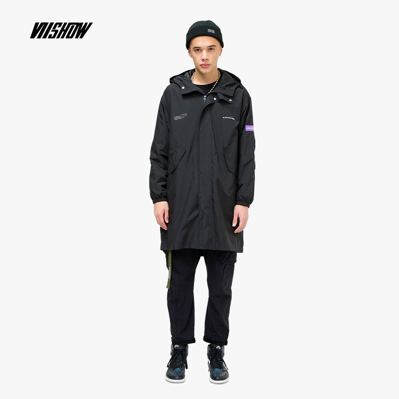 d16163643d4 Viishow Solid Windproof Trench Coat Men Brand Long Coat Men Clothing 2019  New Fashion Men s Coats And Windbreaker FC1086191 Trench Cheap Trench  Viishow ...