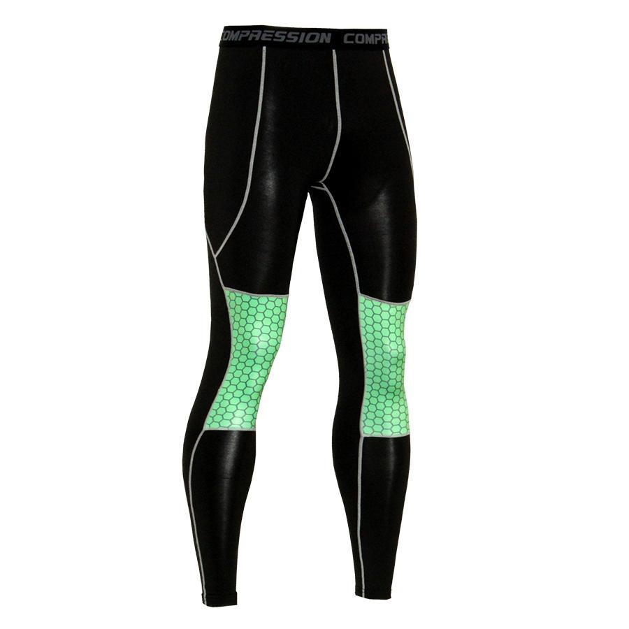 cbfda36ed51d4 2019 2019 Men Workout Fitness Compression Leggings Trousers Down Mma ...