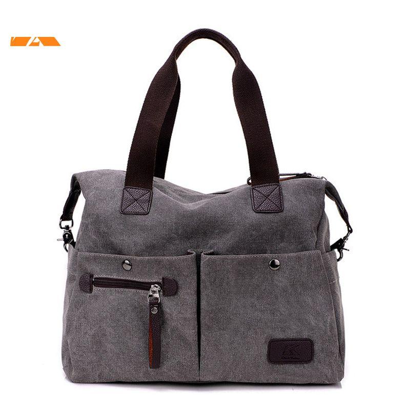 Kvky New Arrive Women Messenger Bag Vintage Canvas Handbags Ladies Travel Bag  Female Crossbody Shoulder Bag Big Casual Tote Leather Backpacks Shoulder  Bags ... ff461de11137c