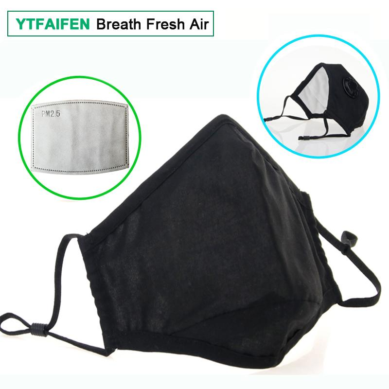 Men's Accessories Face Mask Cotton Mouth Mask Black Anti Haze Dust Masks Filter Windproof Mouth-muffle Bacteria Flu Fabric Cloth Respirator 2018 Men's Masks