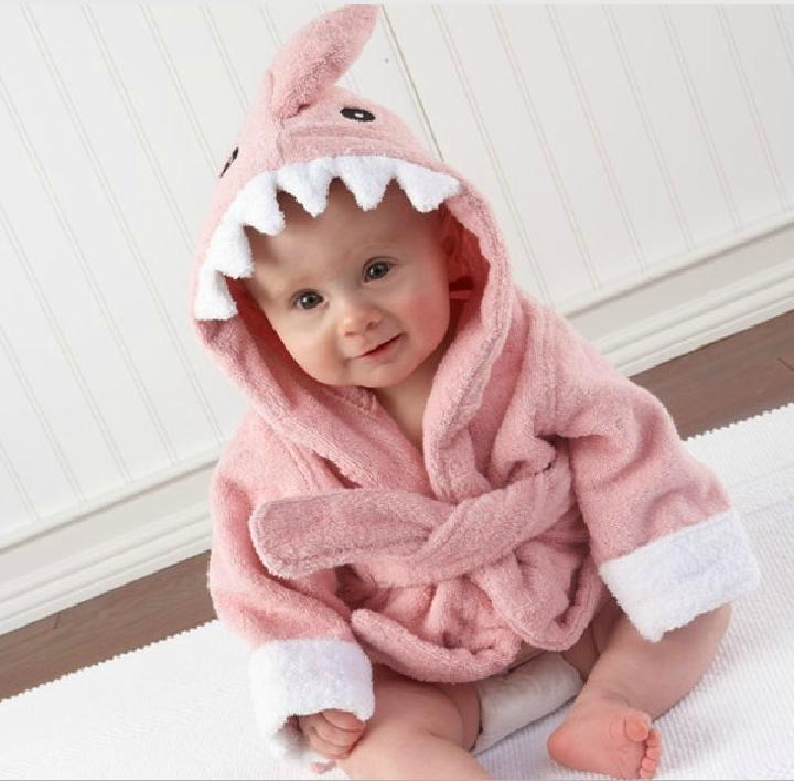 fd75b540b9 2019 Kids Animal Bathrobe Toddler Girl Boy Baby Cartoon Pattern Towel Hooded  Shark Bath Towel Terry Wrap Owl Bath Robes Hippo Swaddle Blanket From ...