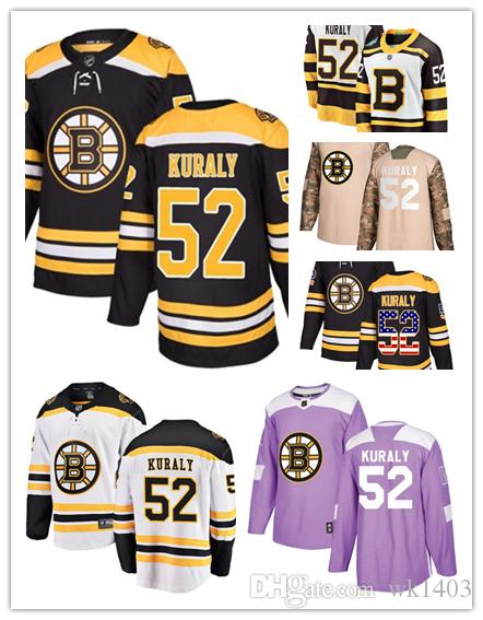 premium selection 2ea13 e4f69 Boston Bruins jerseys #52 Sean Kuraly jersey hockey team men women white  black drift Authentic winter classic Stiched CCM Jersey