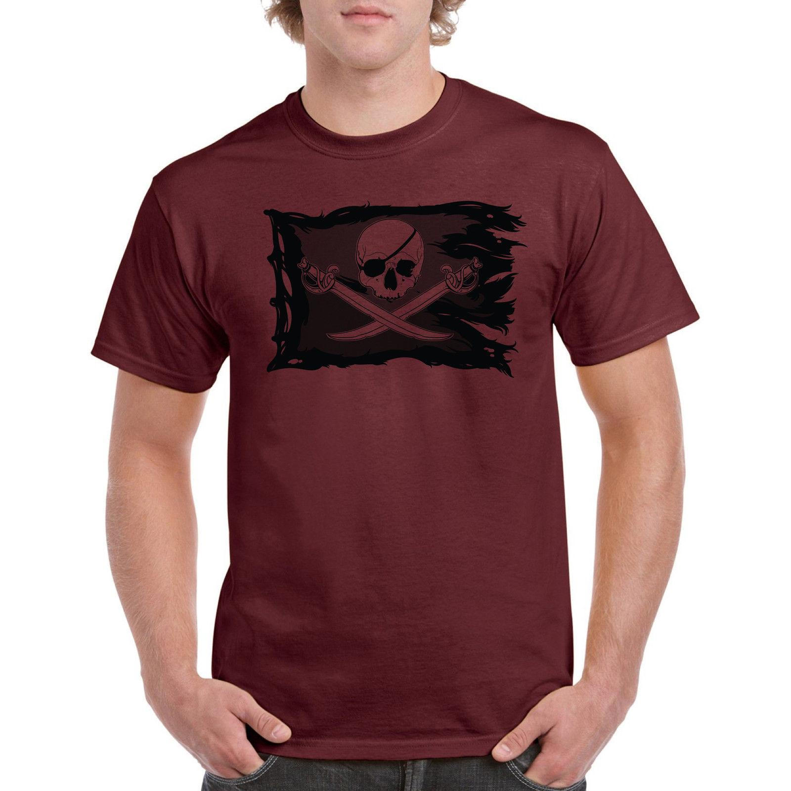 124f6eb8131 Pirate Flag Tee Shirt Skull Men T Shirt Funny Shirts Sea Ocean Sail On Boat  Funny Unisex Casual Tshirt Online Shopping T Shirt Cool Shirts Online From  ...