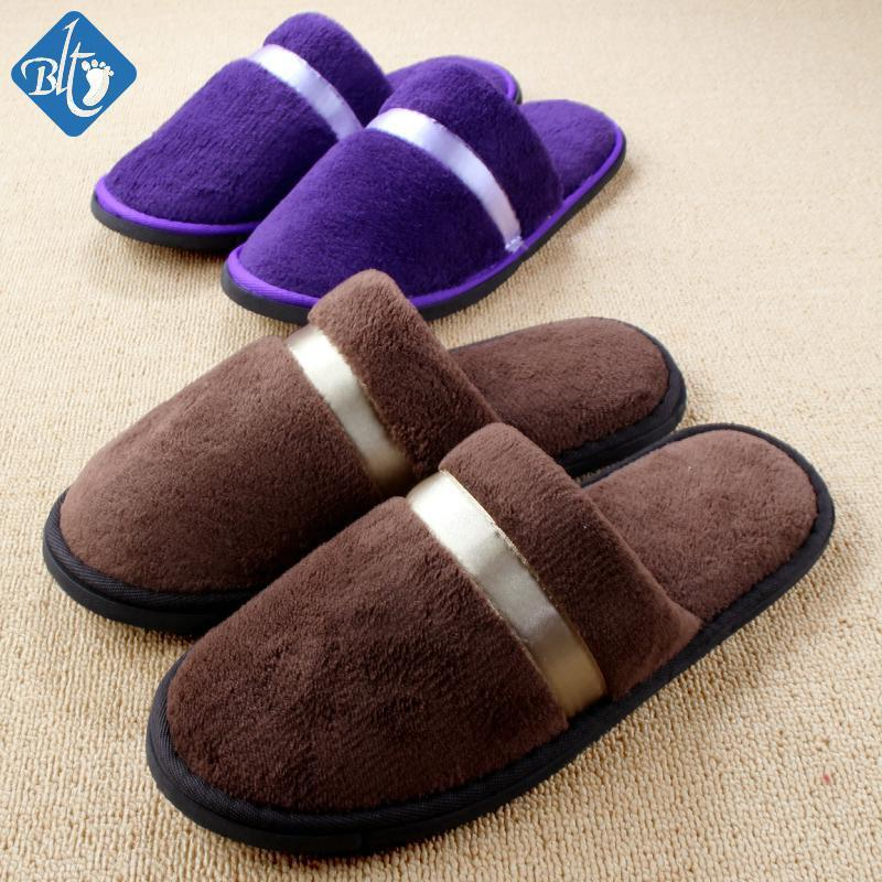 5cdc9404651 Men Women Hotel Slippers Anti Slip Warm Home Indoor Shoes Travel Slippers  Pantuflas Coral Fleece House Slipper Pantufa Italian Shoes Mid Calf Boots  From ...
