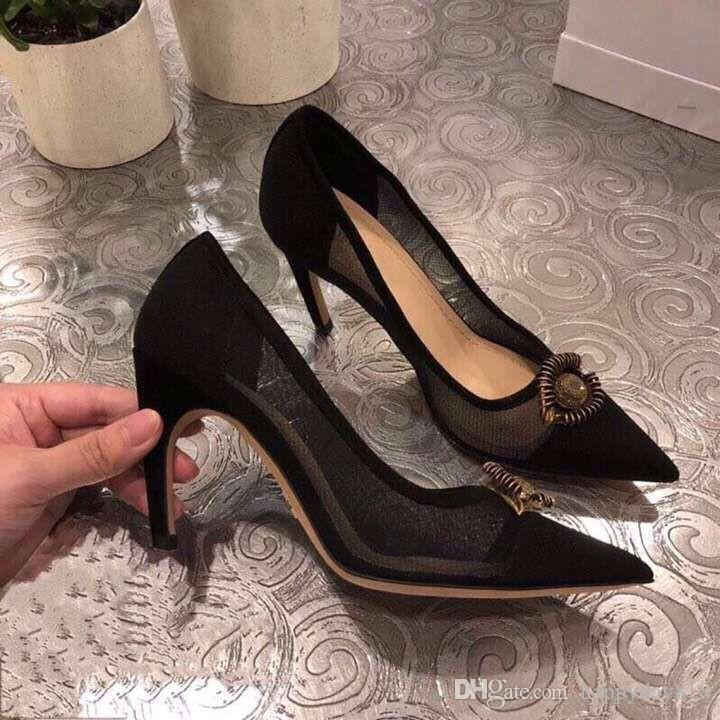 ab3a546846a Blingbling Women Shoes High Heels Stilettos Black Lace Mesh Point Toe Sexy  High Heel Pumps Party Shoes Wedding Pumps Comfortable Shoes Slip On Shoes  From ...