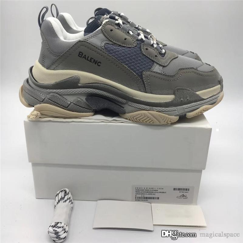 2019 Authentic Multi Triple S Low Old Dad Sneakers combinazione suole stivali uomo donna moda scarpe casual con scatola originale
