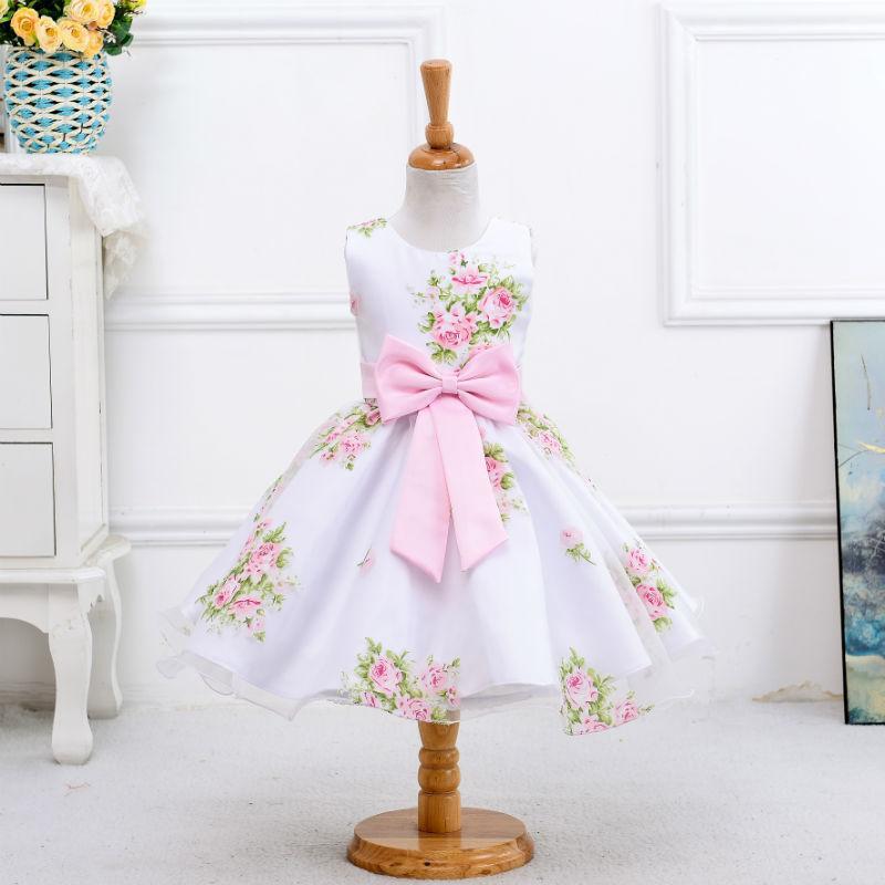 2610a0d4c Compre Vestido De Niña Para La Boda Vestido De Fiesta Para Niñas Con Vestidos  De Proa Vestido De Flores De Verano Para Bebés Ropa De Marca Para Niños A  ...