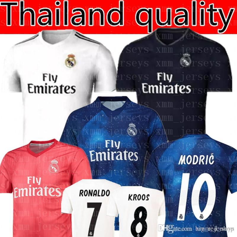 factory price 3ab8f d9b2d Real Madrid RONALDO #7 MBAPPE #10 soccer jerseys 2019 Real Madrid ISCO #22  RAMOS RONALDO BENZEMA MODRIC football shirt WOMEN man Kids Kits