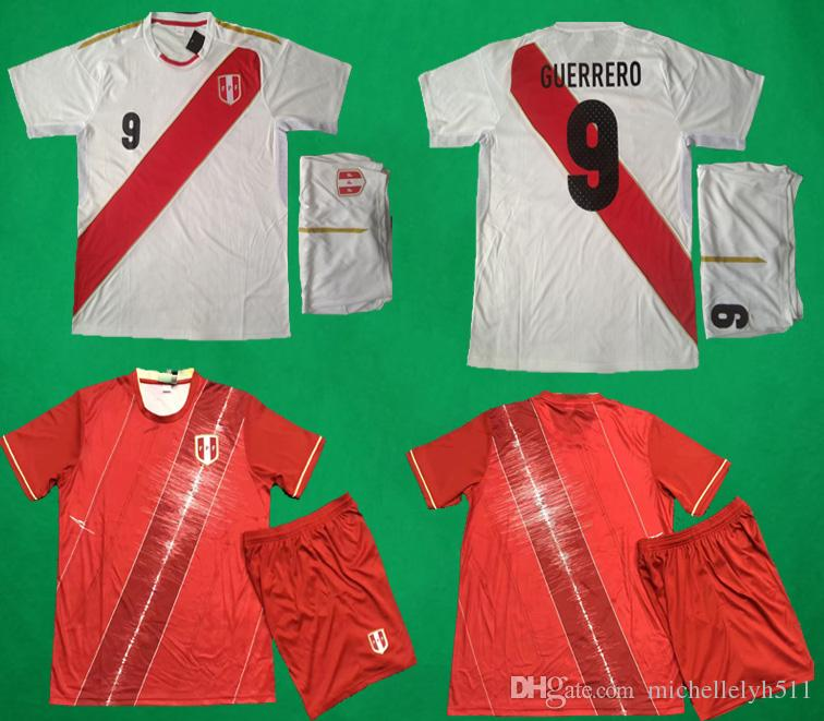 aa58d2b4a92 2019 18 19 Peru Home Soccer Uniforms Paolo Hurtado Renato GUERRERO Soccer  Jersey Adult Thai Quality Sports Kits Peru Away Red Football Sets From ...