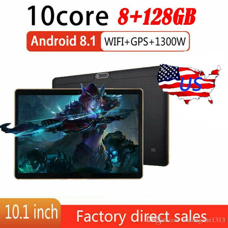 10.1inch Android Tablet PC 8.1 Bluetooth WIFI / 3G + 8 128G 2 SIM GPS doppia macchina fotografica