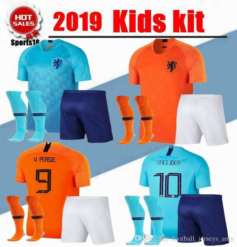 2019 Kids Kit Netherlands Boy With Socks Uniforms ROBBEN VIRGIL DOST Children  Soccer Sets MEMPHIS Dutch DOST 9 Youth Top Soccer Jersey UK 2019 From ... 821785069