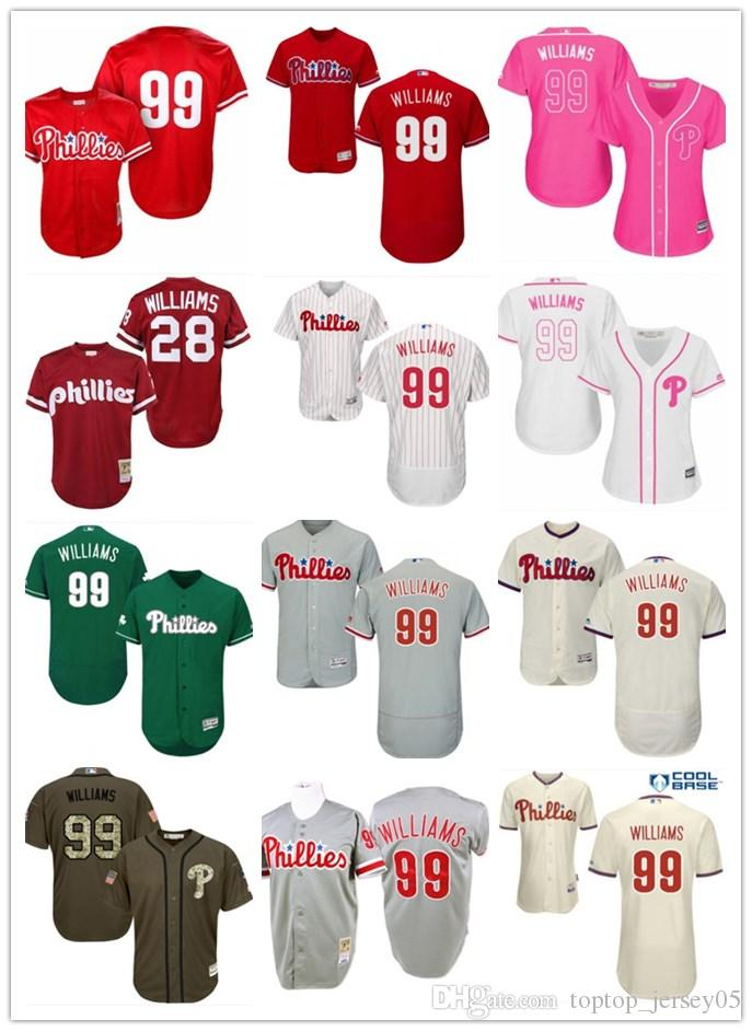 2019 2018 Top Philadelphia Phillies  99 Mitch Williams Jerseys  Men WOMEN YOUTH Men S Baseball Jersey Majestic Stitched Professional  Sportswear From ... 71dc7737990