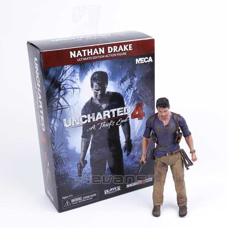 NECA Uncharted 4 Ein Dieb Ende NATHAN DRAKE Ultimate Edition PVC Action Figure Sammler Modell Spielzeug 18cm