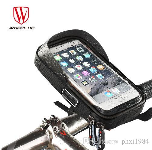 efd39080c93 Compre RODA UP Bicicleta Saco Do Telefone Da Bicicleta À Prova De Chuva TPU  Touch Screen Telefone Celular Titular Da Bicicleta Sacos De Guiador MTB  Saco De ...