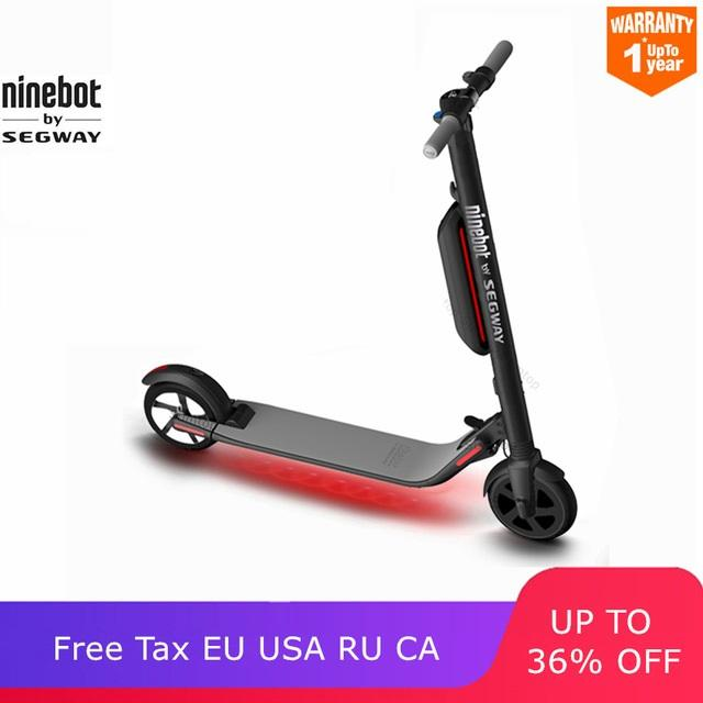 Original Ninebot ES4/ES2 Smart Electric Scooter bike foldable lightweight  board hoverboard skateboard V1 3 Black Color