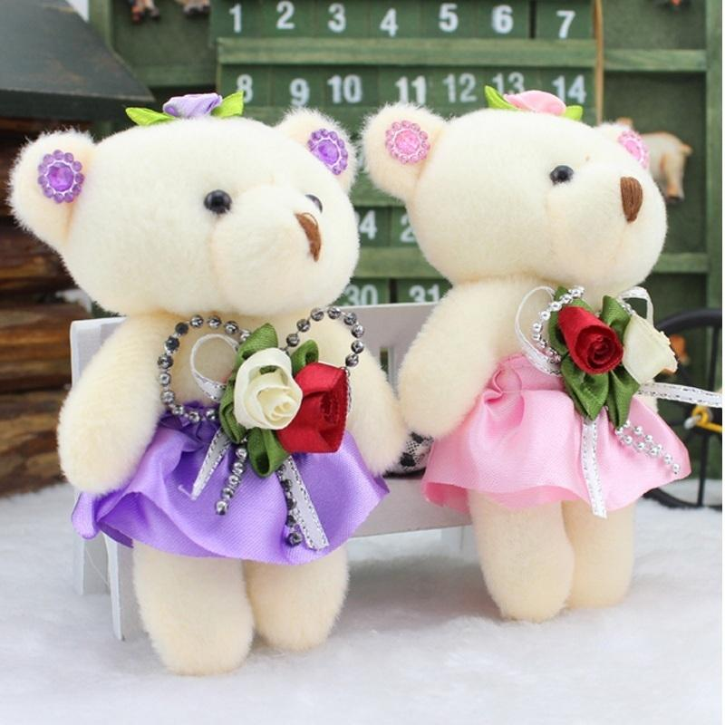 Promotion 12pcs Lovely For Bouquet High Quality Soft Stuffed Plush Toys Mini Teddy Bears Dolls Valentine's Day Gifts Q190521