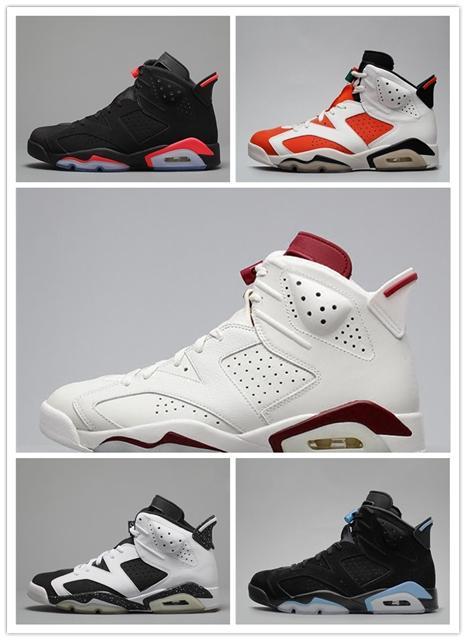 4177eefb0c6 6 6s Black Infrared Mens Kids Basketball Shoes 6s UNC Carmine ...