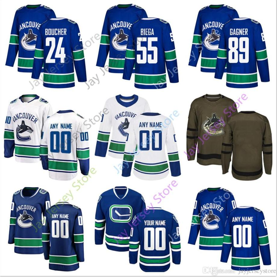 new arrival 96e49 1be74 Reid Boucher Alex Biega Sam Gagner Jersey 2019 Winter Classic Vancouver  Canucks Home Away New Third Women Youth Salute to Seriver Cheap