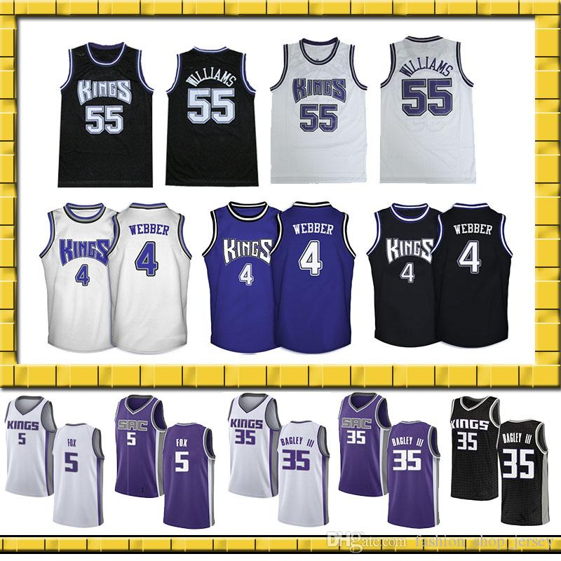 5 De Aaron Fox 2019 New Sacramento Jerseys Retro 35 Marvin Bagley ... f8f61a378