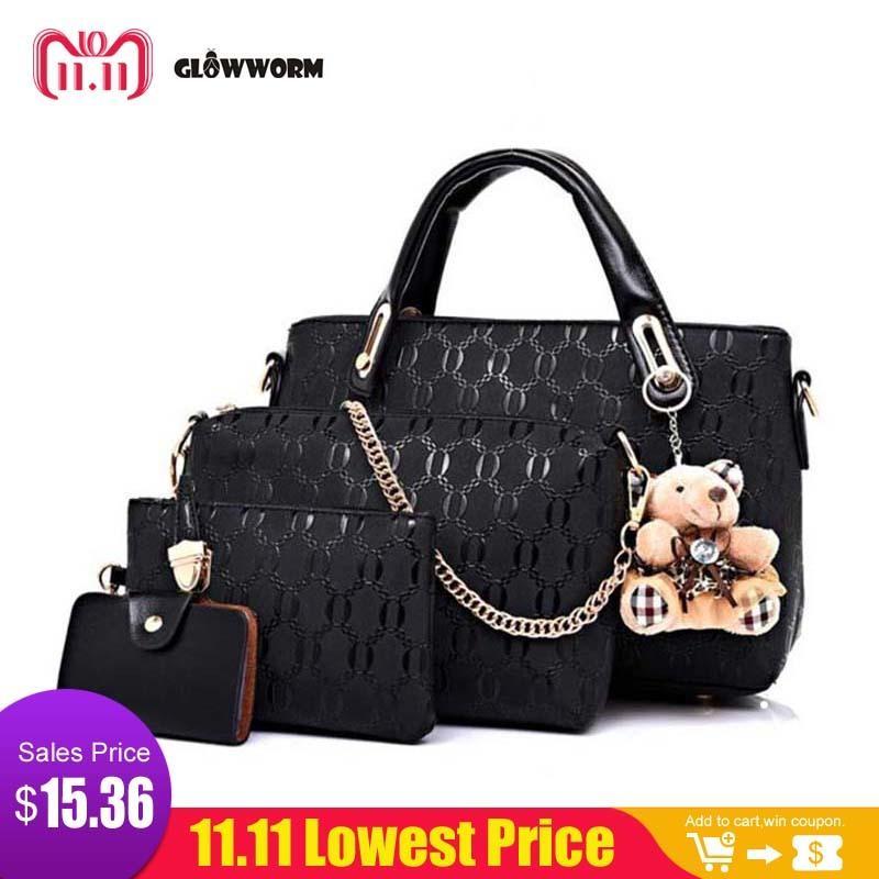 965fa7bf14 2019 Fashion Famous Brand Women Bag Brand 2017 Fashion Women Messenger Bags  Handbags PU Leather Female Bag Set XP659 Hobo Bags Ladies Handbags From  Bags1