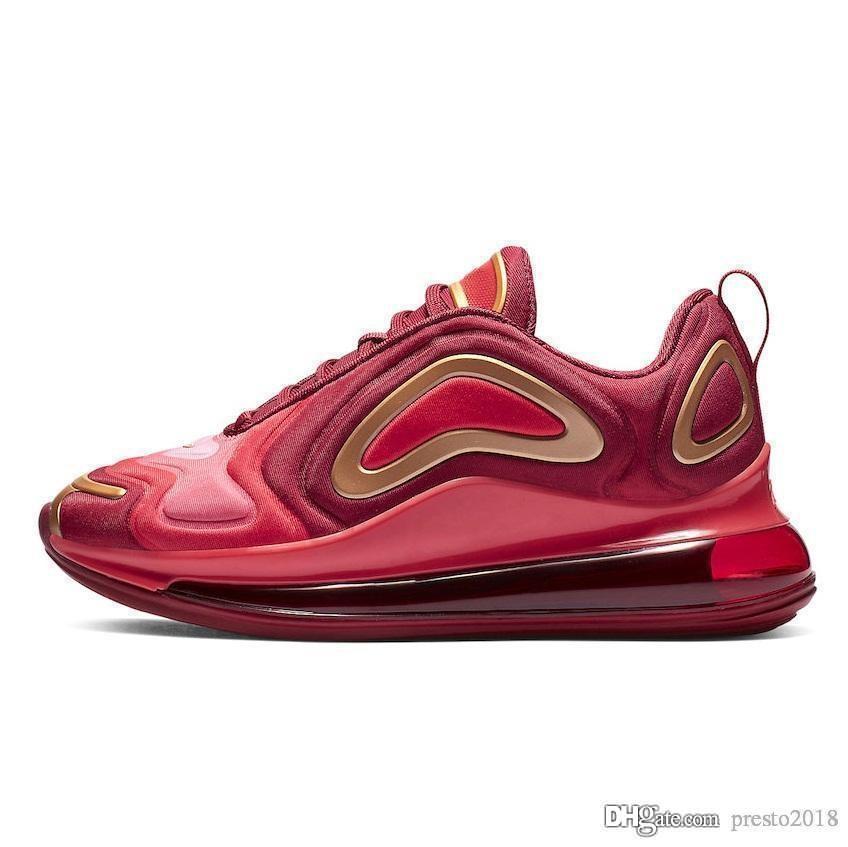 Nike air max airmax 720 Hombres Mujeres 2019 de alta calidad Negro Blanco Desierto Rosa Mar Zapatos Entrenadores de diseño Tamaño 40 45