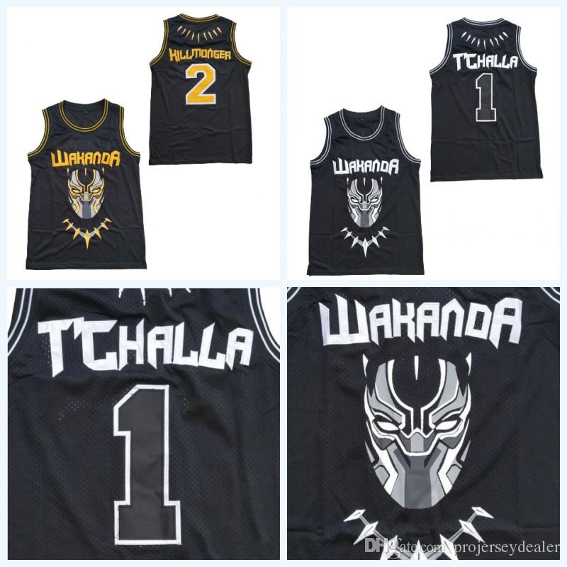 Number Erik Fast Stitched Projerseydealer Wakanda The Basketball 2019 Challa 2 From Jerseys Movie Black 28 Hillmoager Double Name Dhgate Panther 1 amp; 18 com Killmonger Shipping