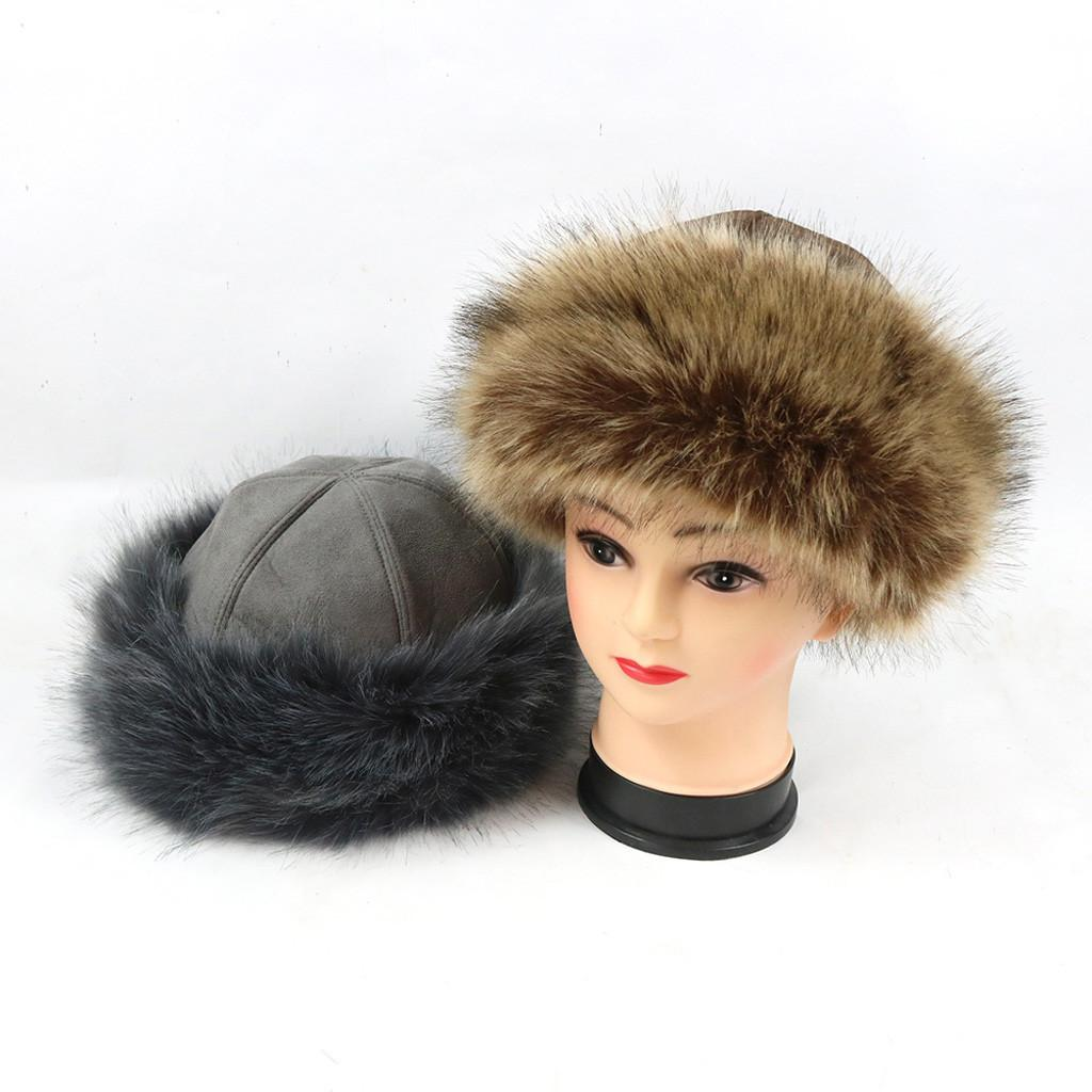 1fec6ef8778 Ladies Girls Winter Hat Fleece Hat With Faux Fur Trim Cloche With Faux Fur  Winter Hats For Mature Person Fitted Caps Knit Hats From Watcheshomie